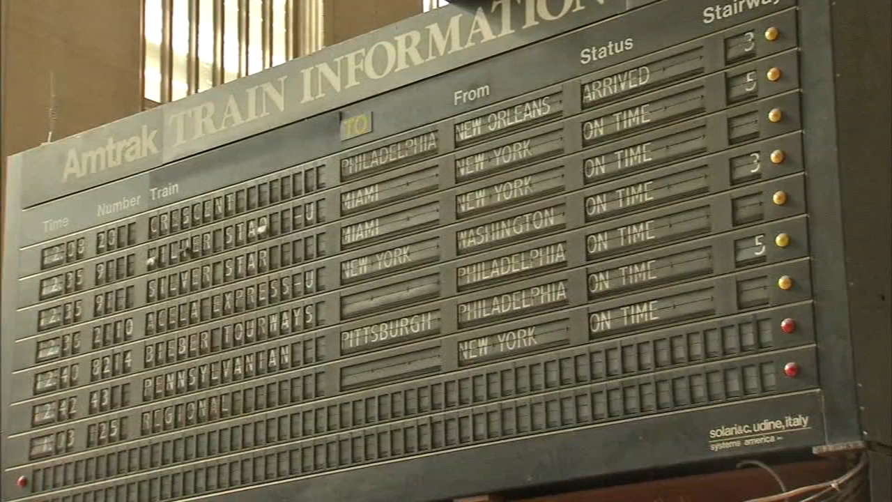 Iconic 30th Street Station flip board heading to museum. Gray Hall reports during Action News at 5 p.m. on January 25, 2019.