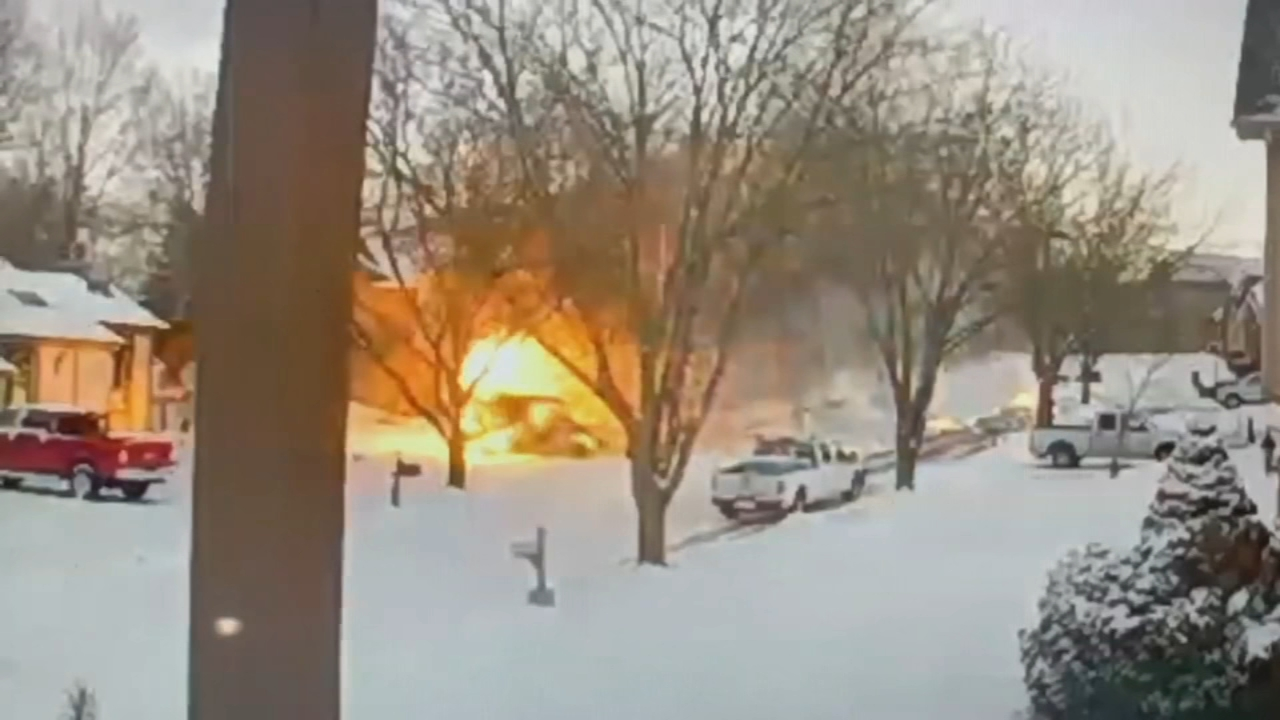 Neighbors in a Missouri neighborhood are a little rattled after watching a mail truck explode on their street.