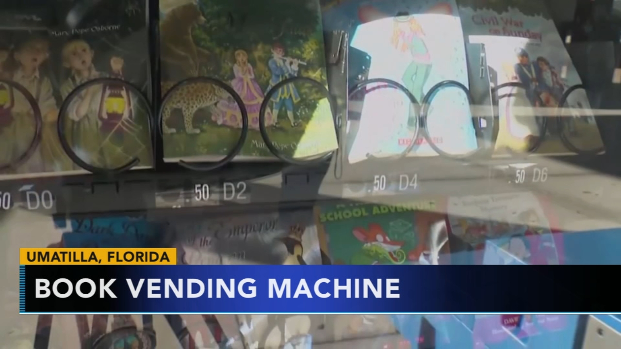 Florida school unveils book vending machine. Nydia Han reports during Action News at 9 a.m. on January 27, 2019.