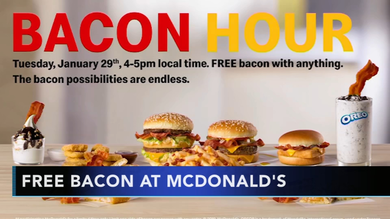 McDonalds to hold bacon hour on Tuesday. Nydia Han reports during Action News at 9 a.m. on January 27, 2019.