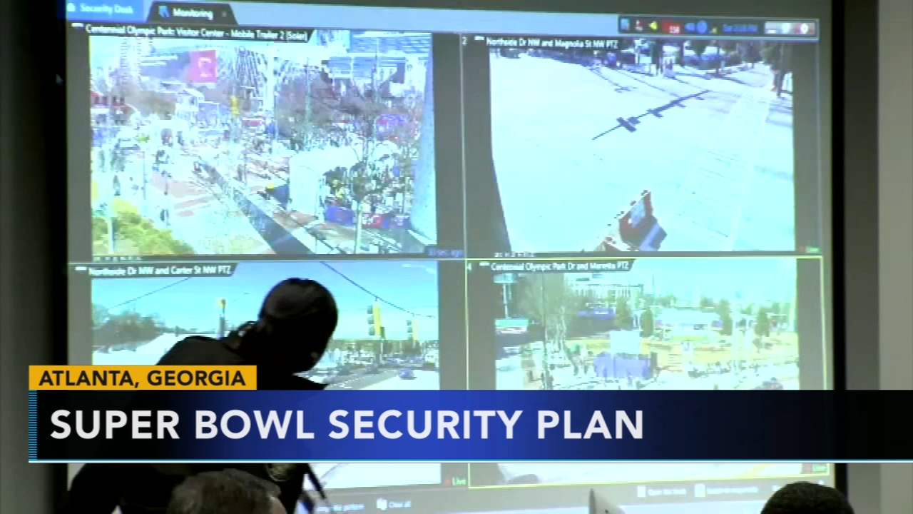 Security preparations underway for Super Bowl LIII. Gray Hall reports during Action News at 6 a.m. on January 27, 2019.