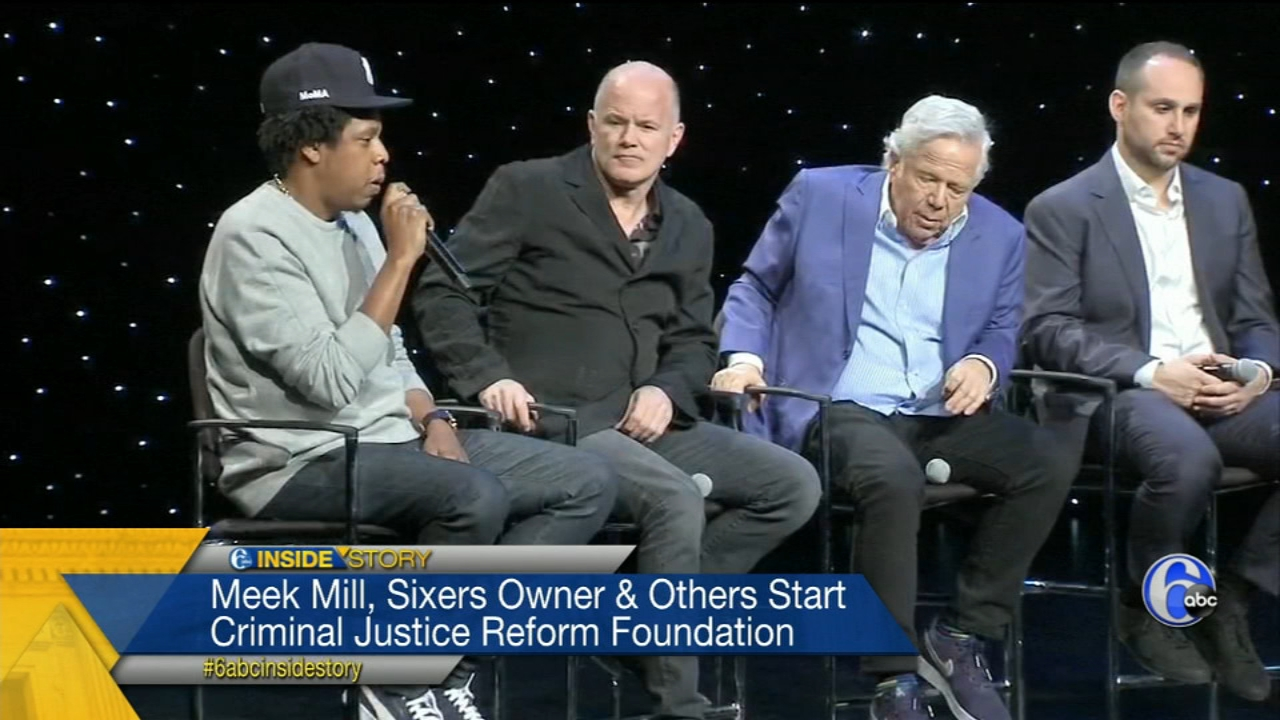 Meek Mill, Sixers owner and Jay-Z start justice reform foundation.