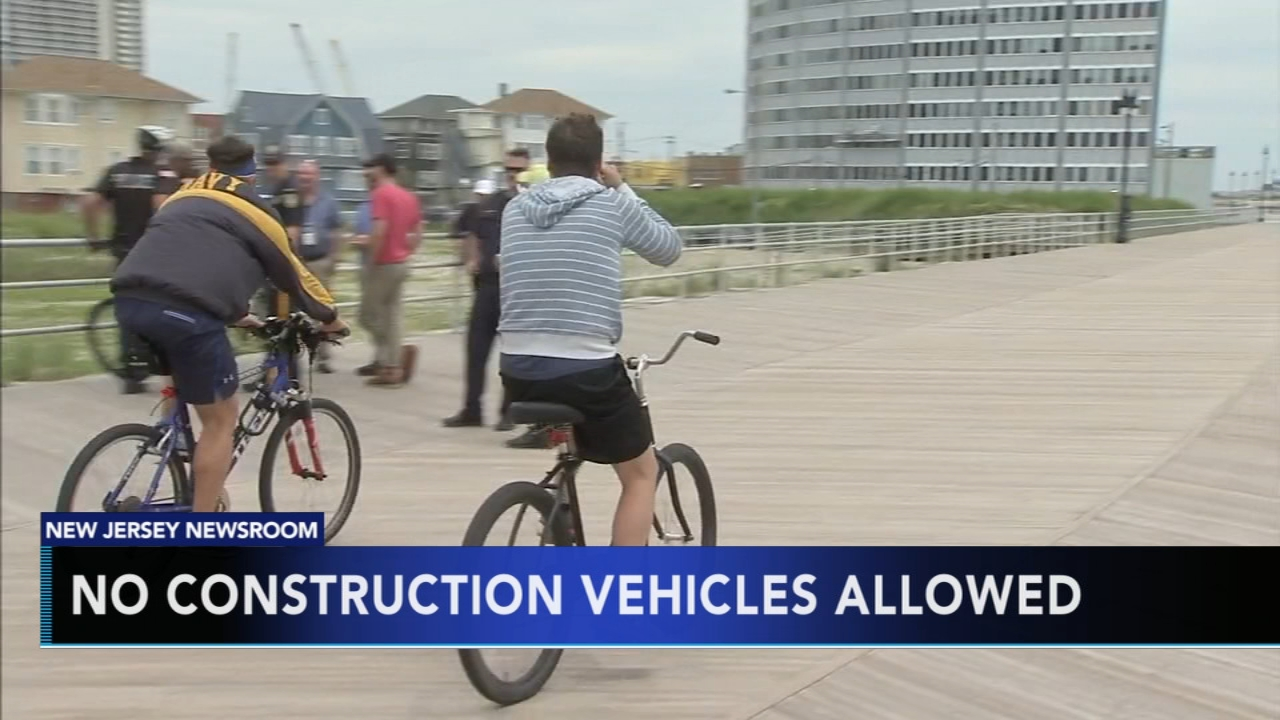 No construction vehicles allowed on A.C. Boardwalks. Matt ODonnell reports during Action News at Noon on January 29, 2019.