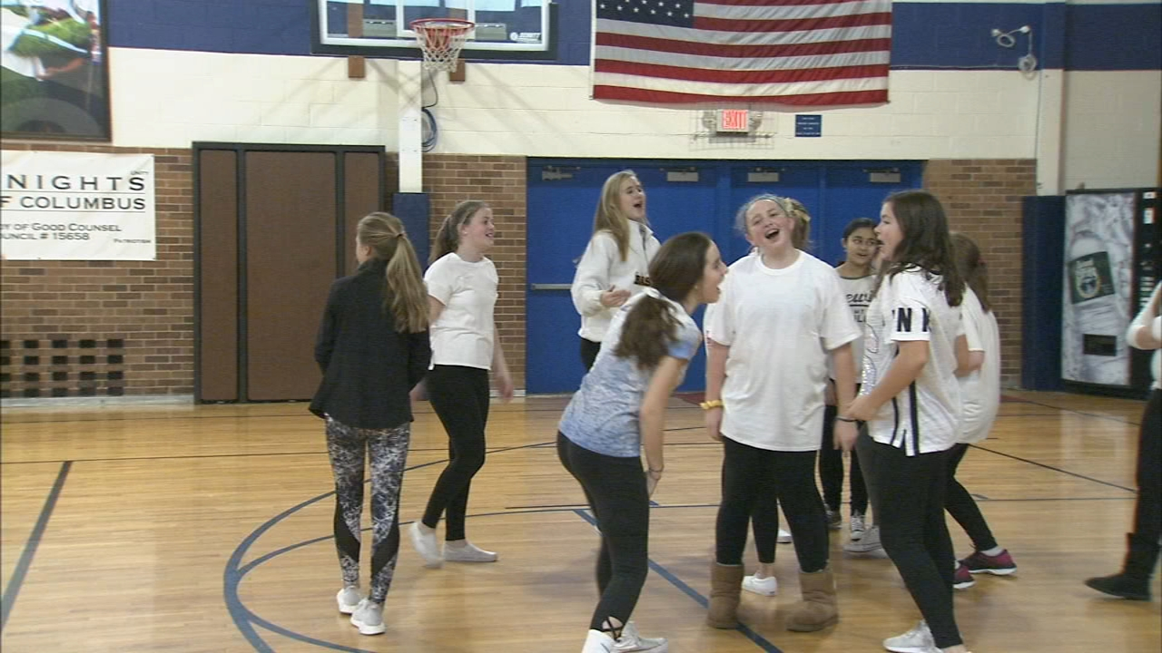 Bucks Co. school holds mini dance-off for pediatric research - Jim Gardner reports during 6pm on January 29, 2019.