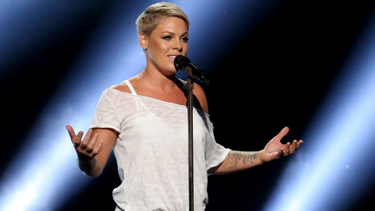 Pink performs Wild Hearts Cant Be Broken at the 60th annual Grammy Awards at Madison Square Garden on Sunday, Jan. 28, 2018, in New York.