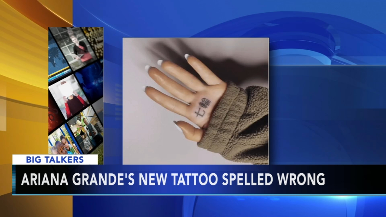 It was an embarrassing, and permanent, mistake made by pop star Ariana Grande.