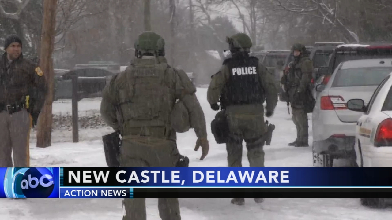 Standoff prompts large police response in New Castle, Delaware. Watch this report from Action News at 4:30pm on February 1, 2019.