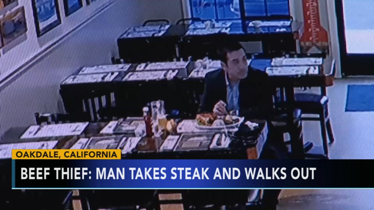 Man takes steak and walks out of California restaurant. Gray Hall reports during Action News at 9 a.m. on February 2, 2019.