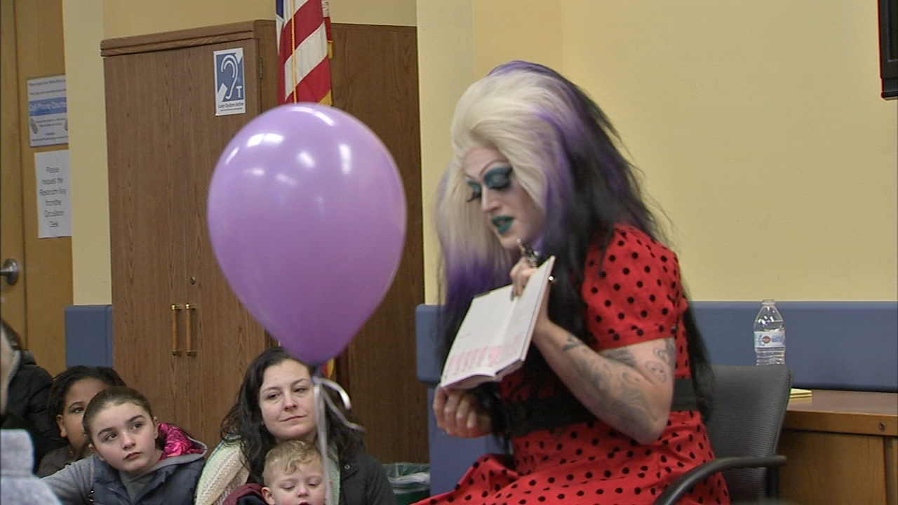 Protest and counter-protests held over local librarys Drag Queen Storytime. Bob Brooks reports during Action News st 5 p.m. on February 2, 2019.