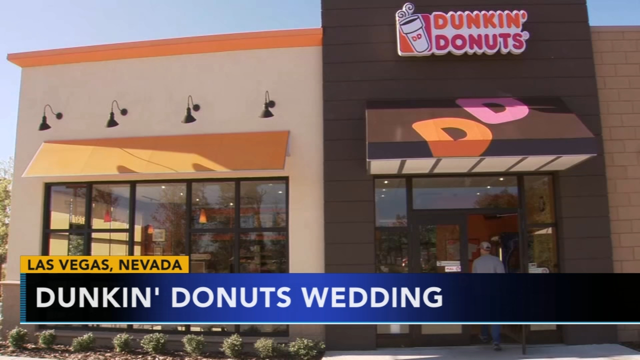 Las Vegas wedding chapel offering Dunkin Donuts themed weddings. Gray Hall reports during Action News at 6 a.m. on February 3, 2019.