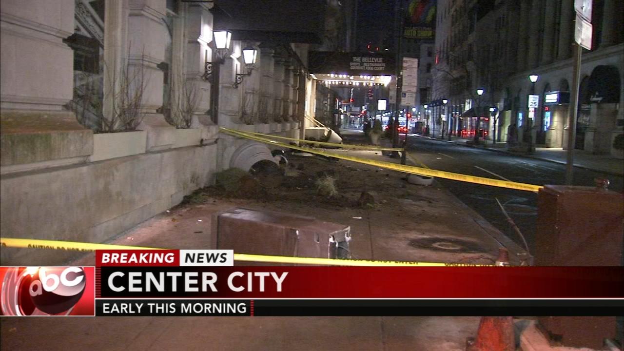 Crash knocks down traffic lights in Center City. Matt ODonnell reports during Action News Mornings on February 4, 2019.