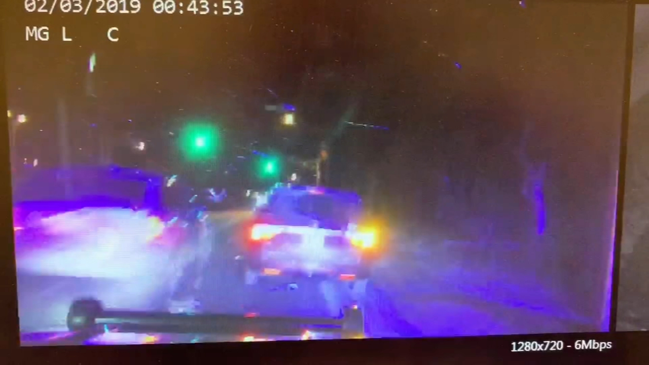 Driver hits patrol car in Ocean County, N.J. Sarah Bloomquist reports during Action News at 12:30 p.m. on February 4, 2019.