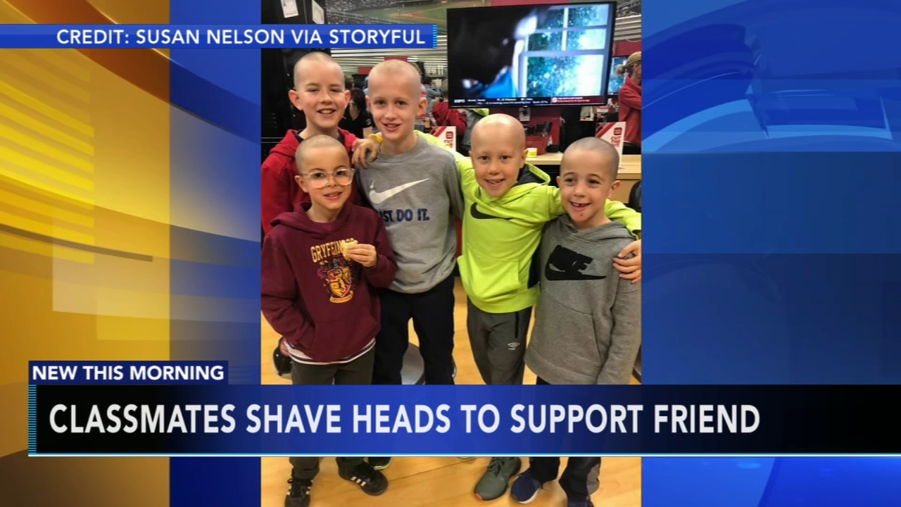 Classmates shave heads to support friend. Tamala Edwards reports during Action News Mornings on February 6, 2019.