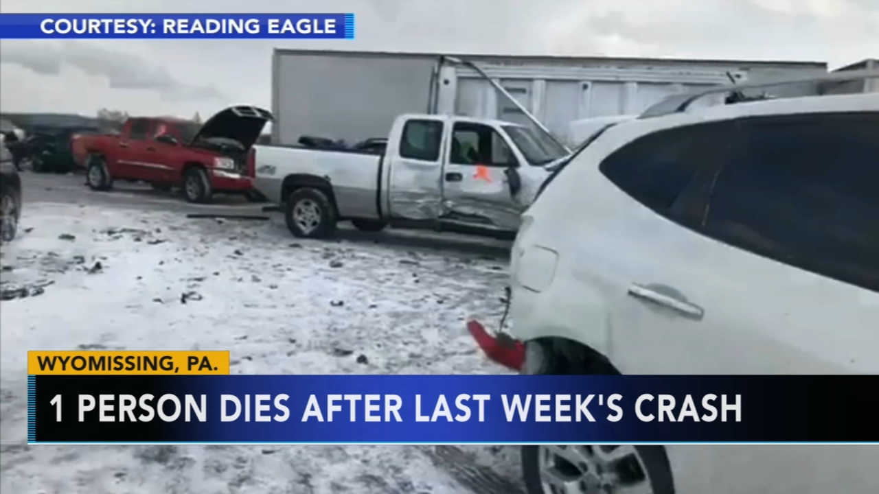 Man dies after pileup during snow squall on Route 222 in Berks County. Watch this report from Action News at 4pm on February 6, 2019.