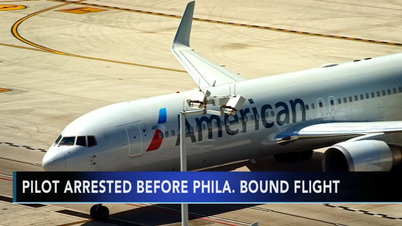 Pilot arrested before Philadelphia-bound flight. Watch the report from Action News at 10 p.m. on February 7, 2019.