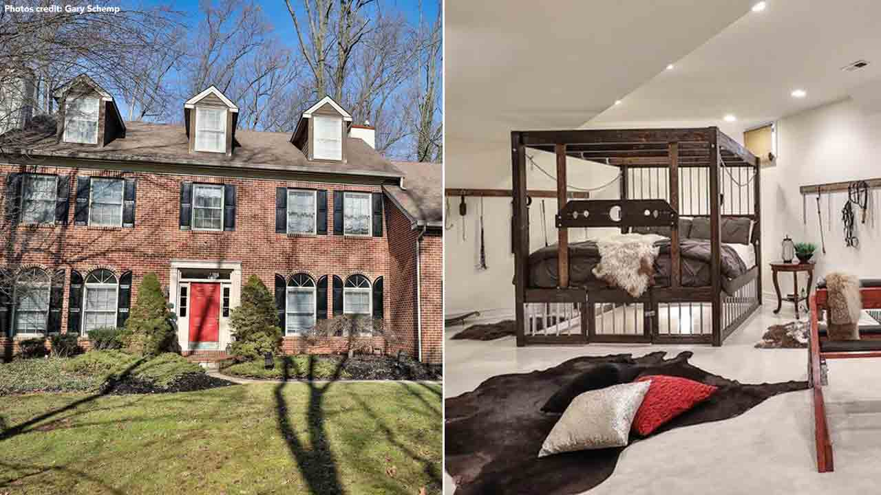 50 Shades of Maple Glen listing includes an adult den