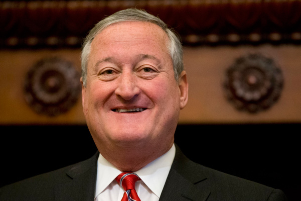 Mayor Jim Kenney speaks after signing into law a 1.5 cent-per-ounce tax on sugary and diet beverages at City Hall in Philadelphia, Monday, June 20, 2016.