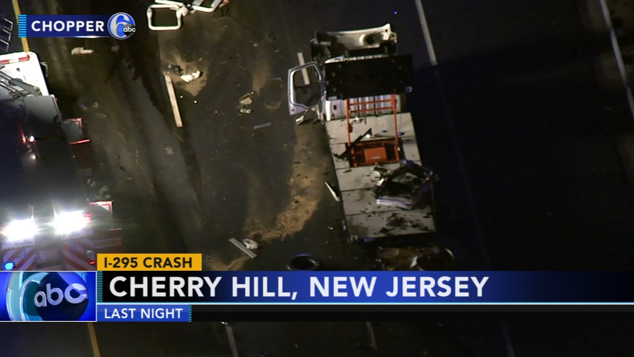 Tractor-trailer and construction vehicle collide on Rt. 295 in Cherry Hill. Matt ODonnell reports during Action News at 5 a.m. on August 10, 2018.