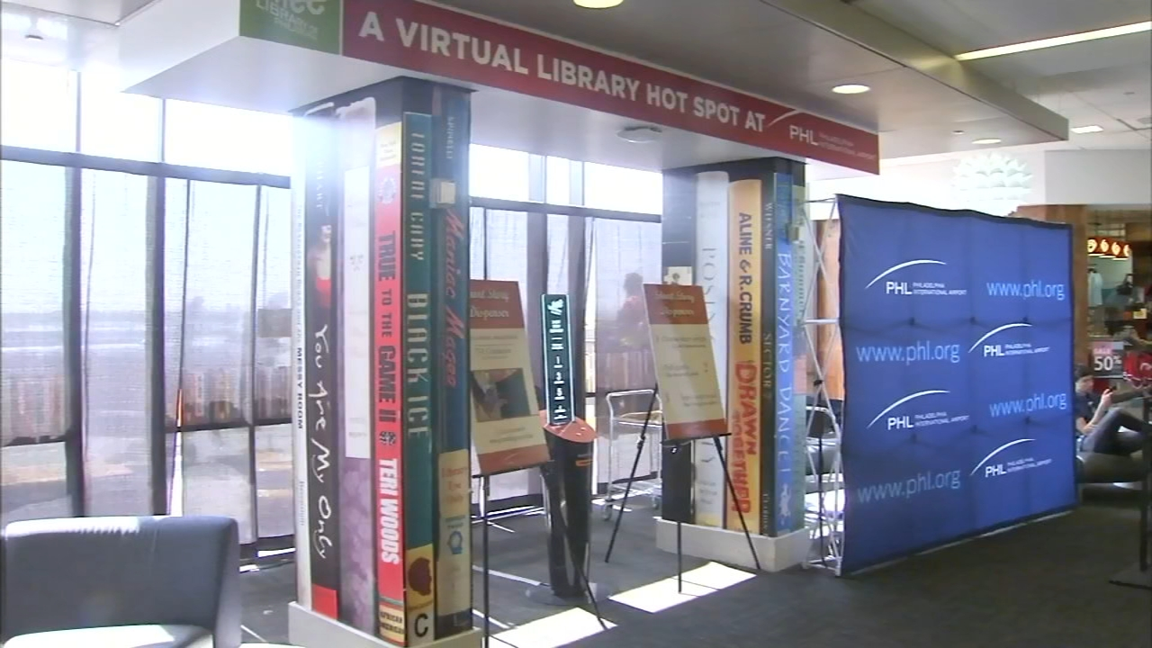 Theres a new, unique, kiosk that opened Friday to help travelers pass the time as reported during Action News at 4 on August 10, 2018.