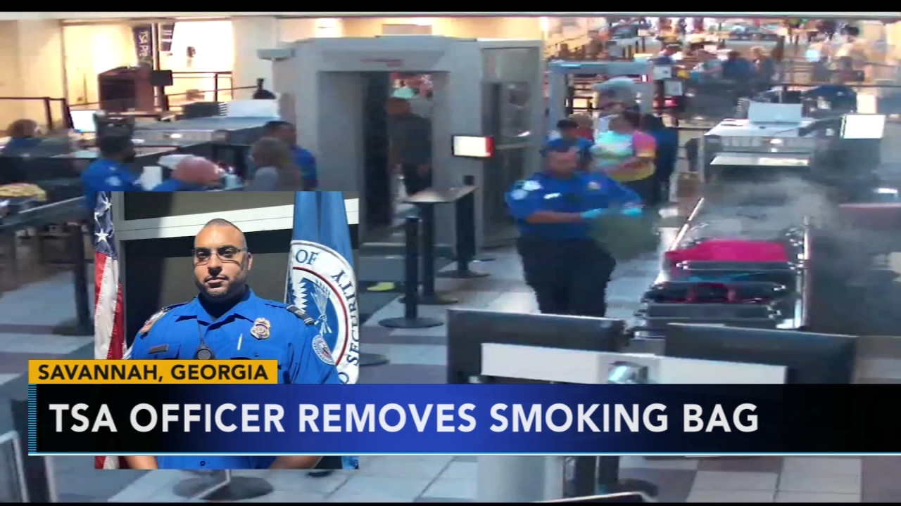 Georgia TSA officer prevents dangerous situation when bag begins to smoke. Matt ODonnell reports during Action News at 5 a.m. on August 10, 2018.