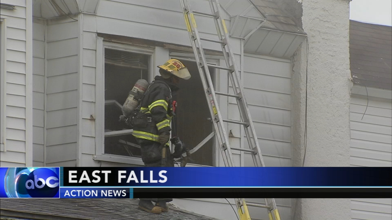 Firefighters battle house fire in East Falls. Walter Perez reports during Action News at 6 p.m. on August 11, 2018.
