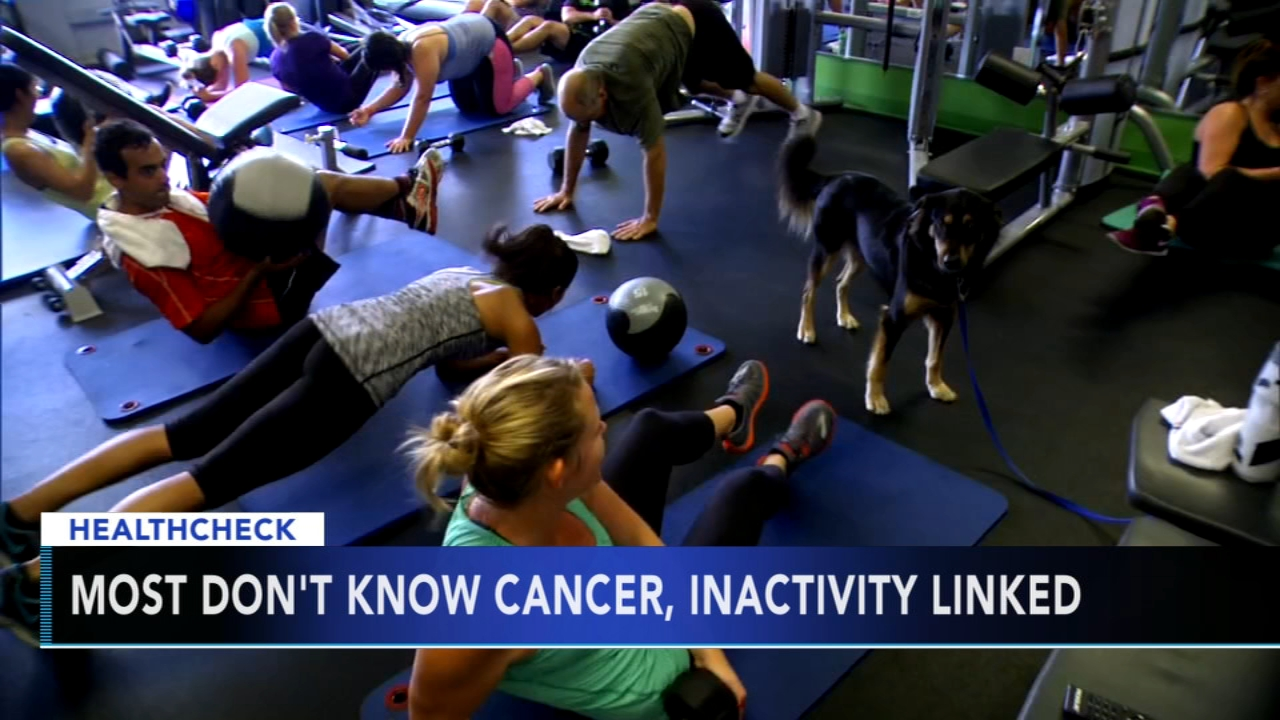 Research shows most people dont know cancer, inactivity are linked. Gray Hall reports during Action News at 7 a.m. on August 11, 2018.