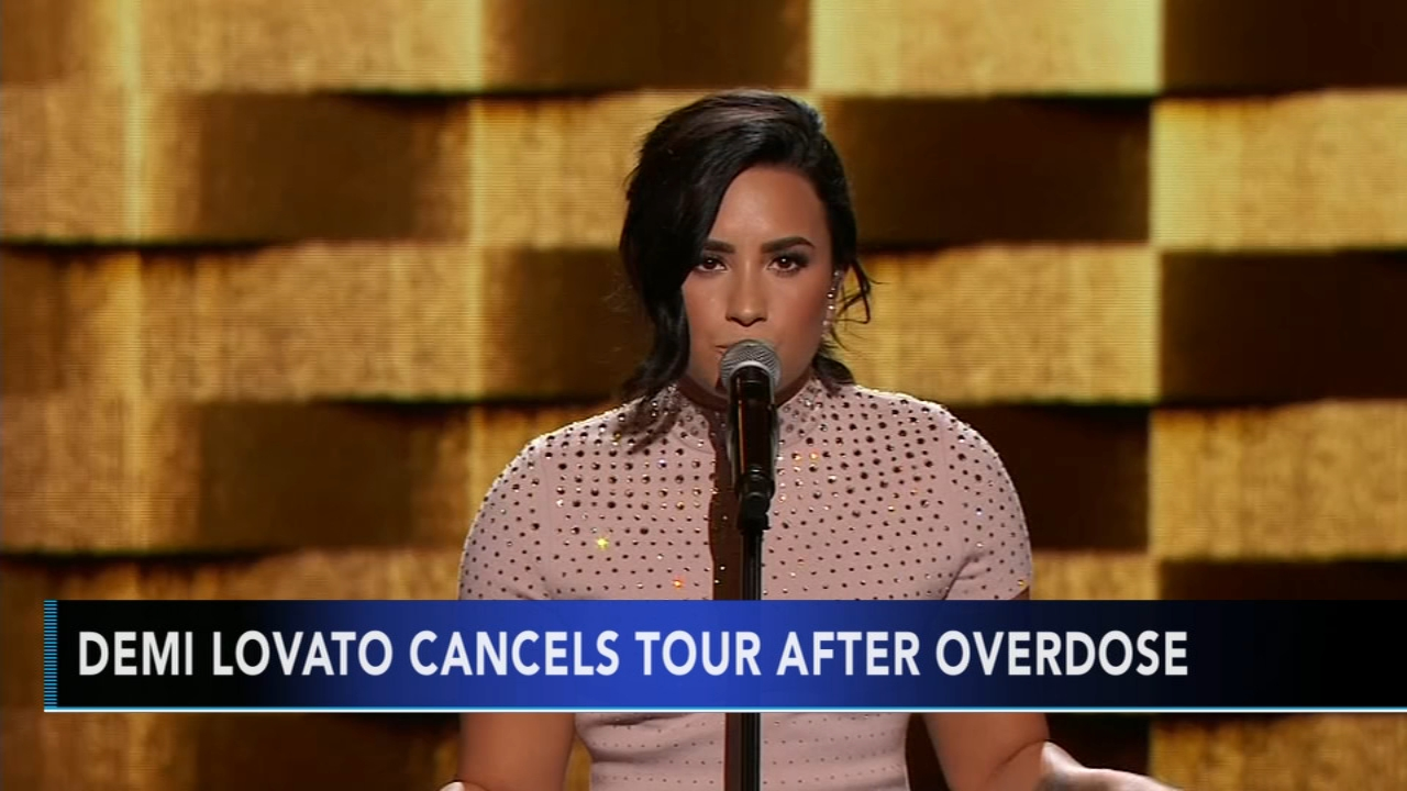 Demi Lovato cancels upcoming tour dates in wake of apparent overdose. Gray Hall reports during Action News at 6 a.m. on August 11, 2018.