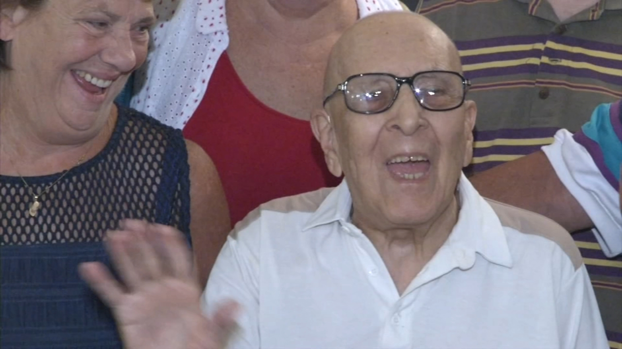 100-year-old veteran gives advice for living a long life, as seen on Action News at 5 p.m., August 12, 2018