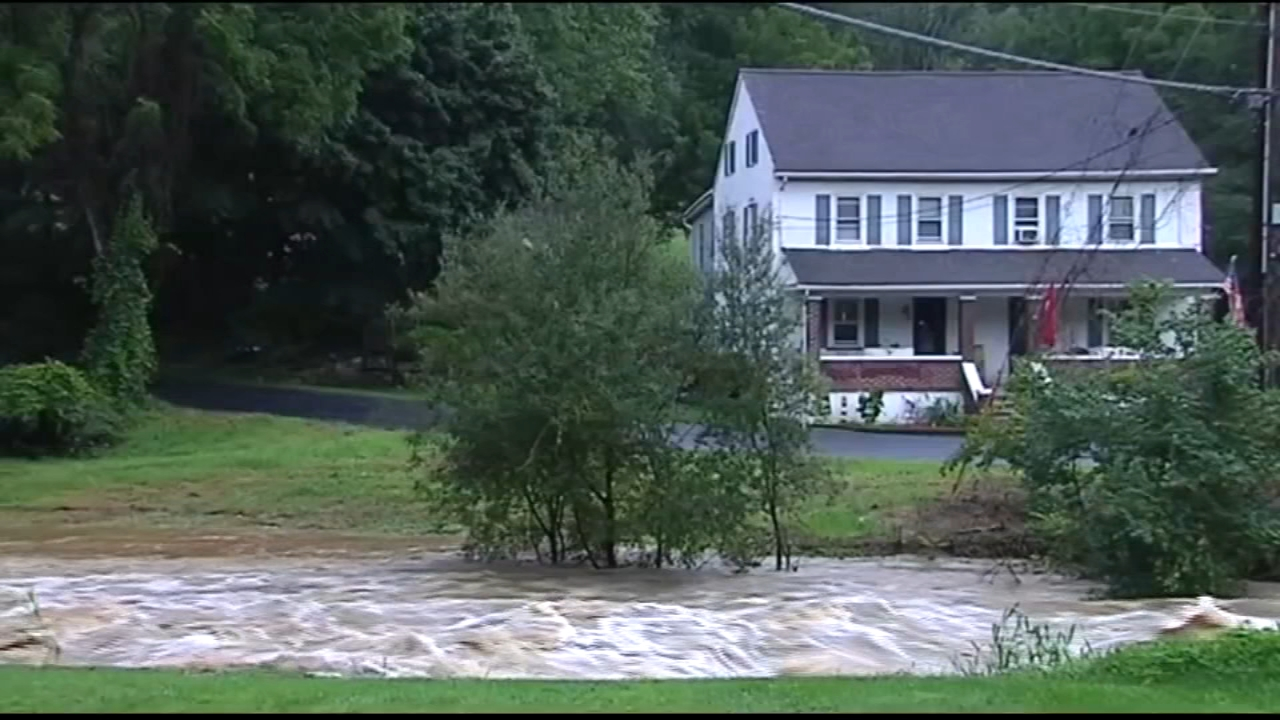 Bucks County sees flash flooding after heavy rains fall throughout the area. Bob Brooks reports during Action News at 10 a.m. on August 12, 2018.