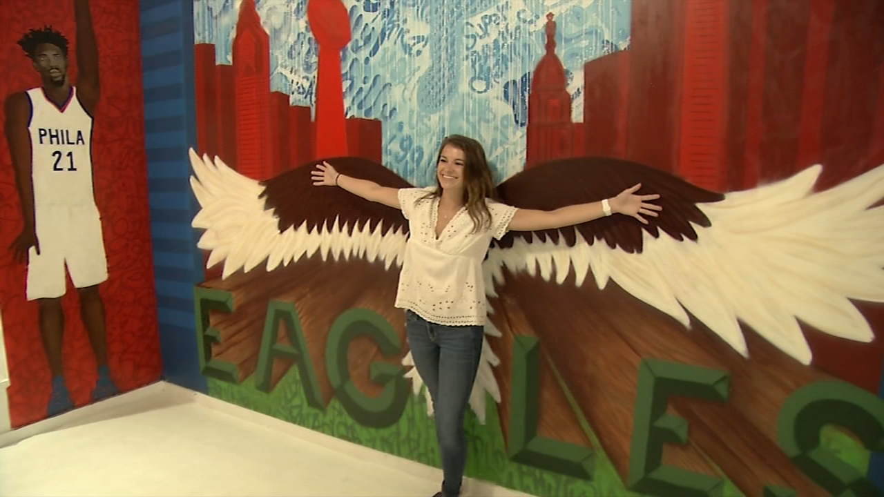Photo Pop Philly is Phillys first interactive pop-up art exhibit. Karen Rogers reports during Action News at 7 a.m. on August 12, 2018.