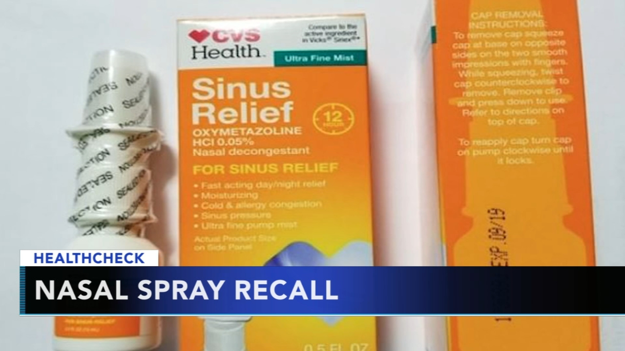CVS nasal spray recalled due to possible bacteria contamination. Gray Hall reports during Action News at 9 a.m. on August 12, 2018.