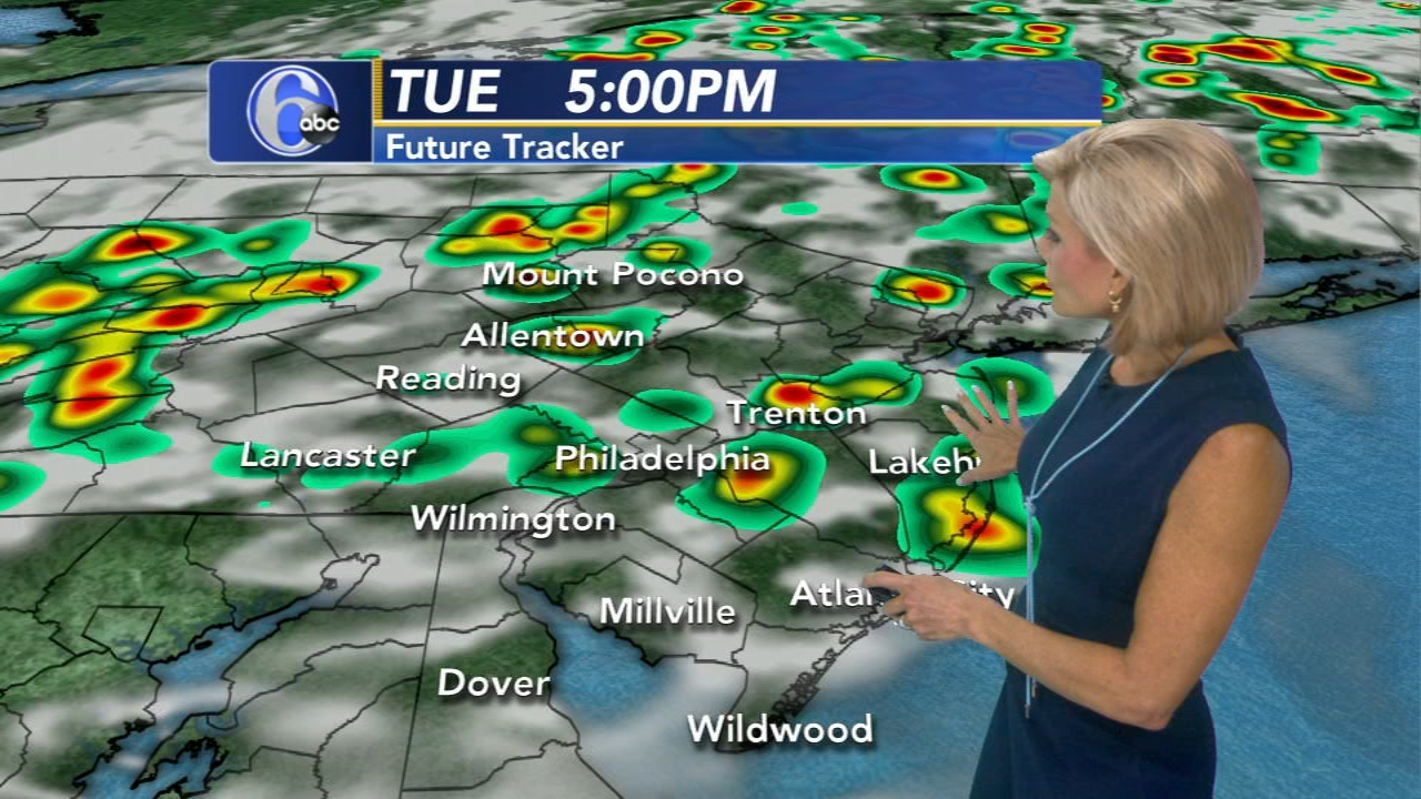 Meteorologist Cecily Tynan has theAccuWeather forecast during Action News at 11 on August 13, 2018.