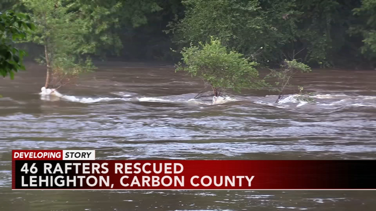 Authorities suspend search of Lehigh River after missing rafters accounted for as reported during Action News at 11 on August 13, 2018.