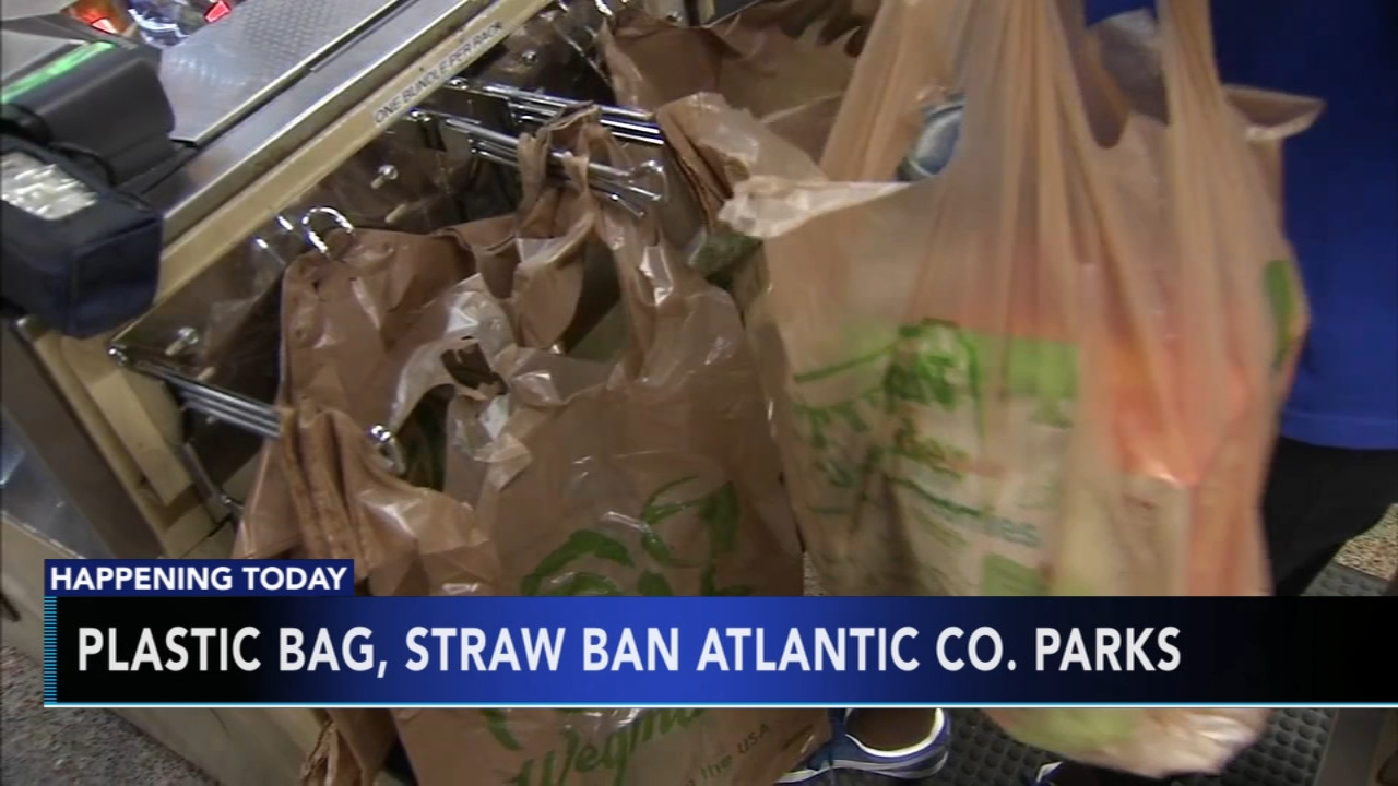 Plastic bag, plastic straw ban begins in Atlantic County. Tamala Edwards reports during Action News Mornings on August 13, 2018.