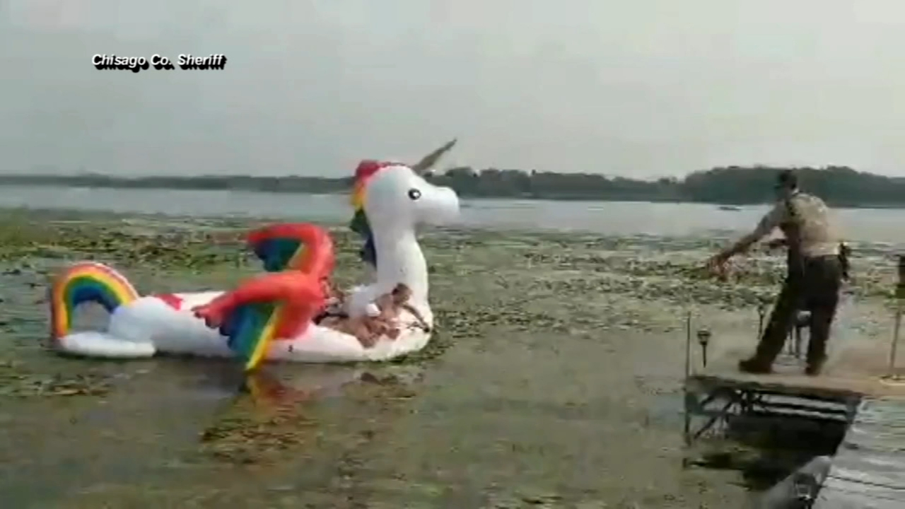 Deputies rescue women on unicorn raft. Matt ODonnell reports during Action News Mornings on August 13, 2018.