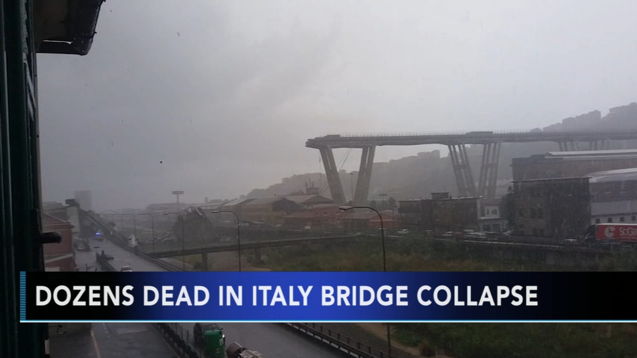 Dozens dead in Italy bridge collapse: Brian Taff reports during Action News at 4pm on August 14, 2018.