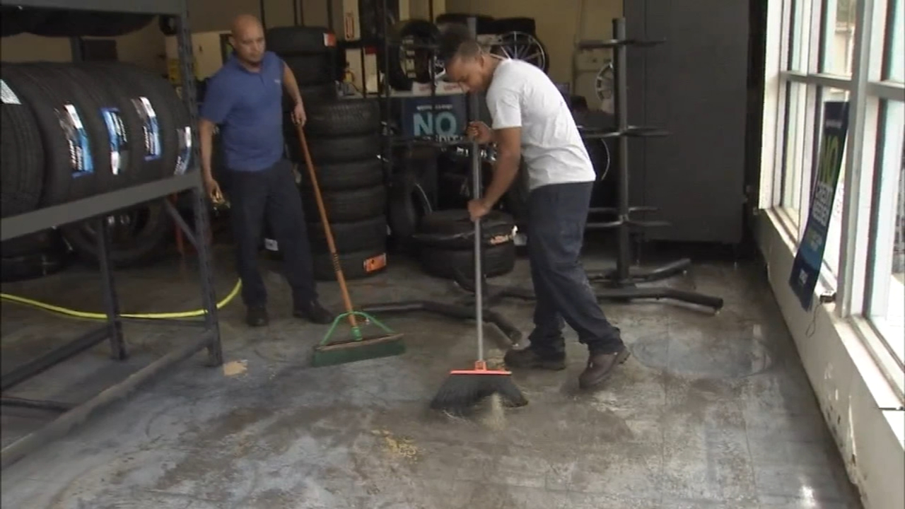 Residents, businessowners clean up following flood in Darby Borough: John Rawlins reports on Action News at 4 p.m., August 14, 2018