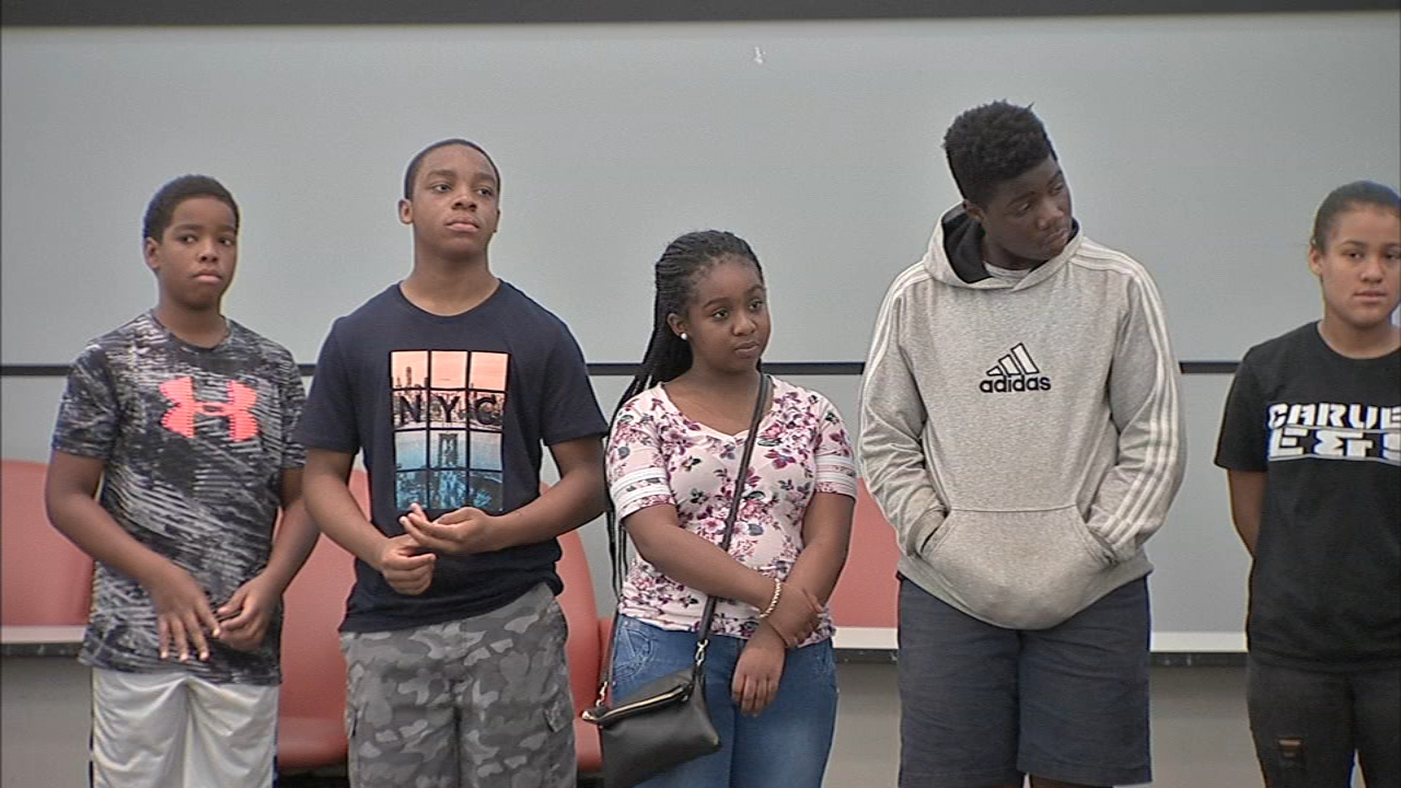 The middle and high school students are part of the Districts 11-99-C Training and Upgrading Fund Program as reported during Action News at 5 on August 14, 2018.