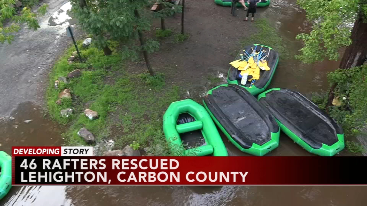 46 rafters rescued in Carbon County. Tamala Edwards reports during Action News Mornings on August 14, 2018.
