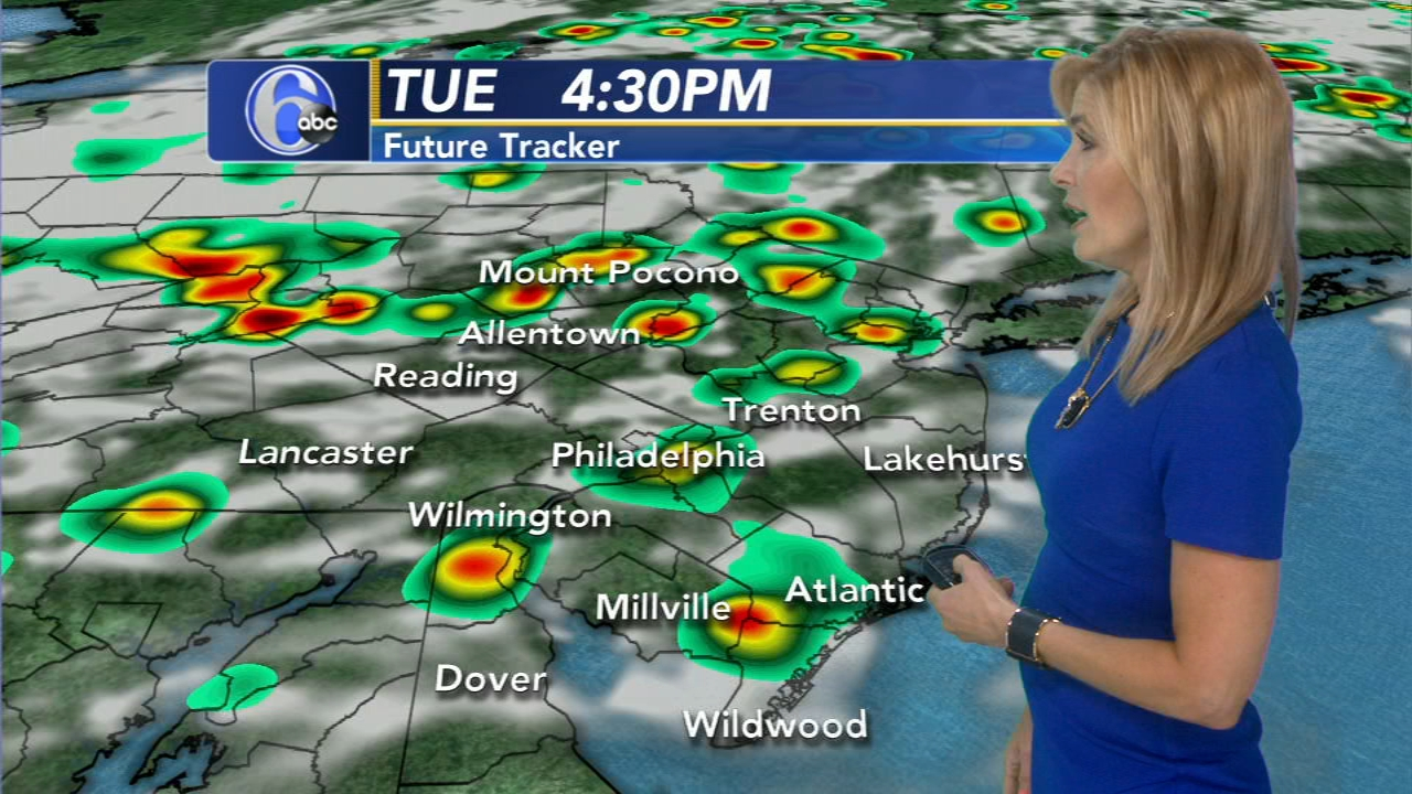 Karen Rogers with AccuWeather during Action News Mornings on August 14, 2018.