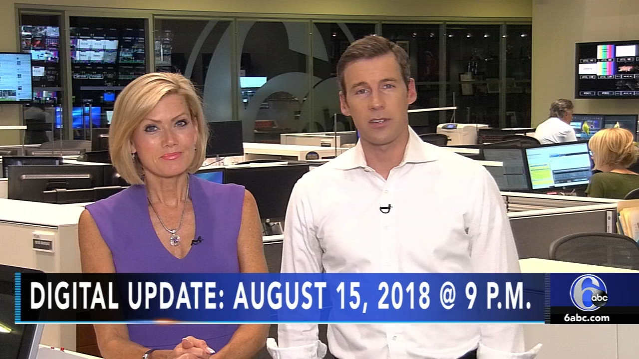 Brian Taff reports, and Cecily Tynan has the latest from AccuWeather, during the Action News Update at 9 p.m. on August 15, 2018.