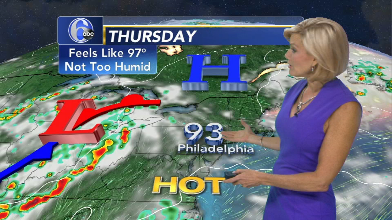 Meteorologist Cecily Tynan with the latest from AccuWeather during Action News at 11 on August 15, 2018.