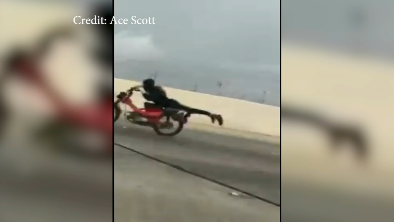 Daredevil motorcyclist performs stunt. Matt ODonnell reports during Action News Mornings on August 15, 2018.