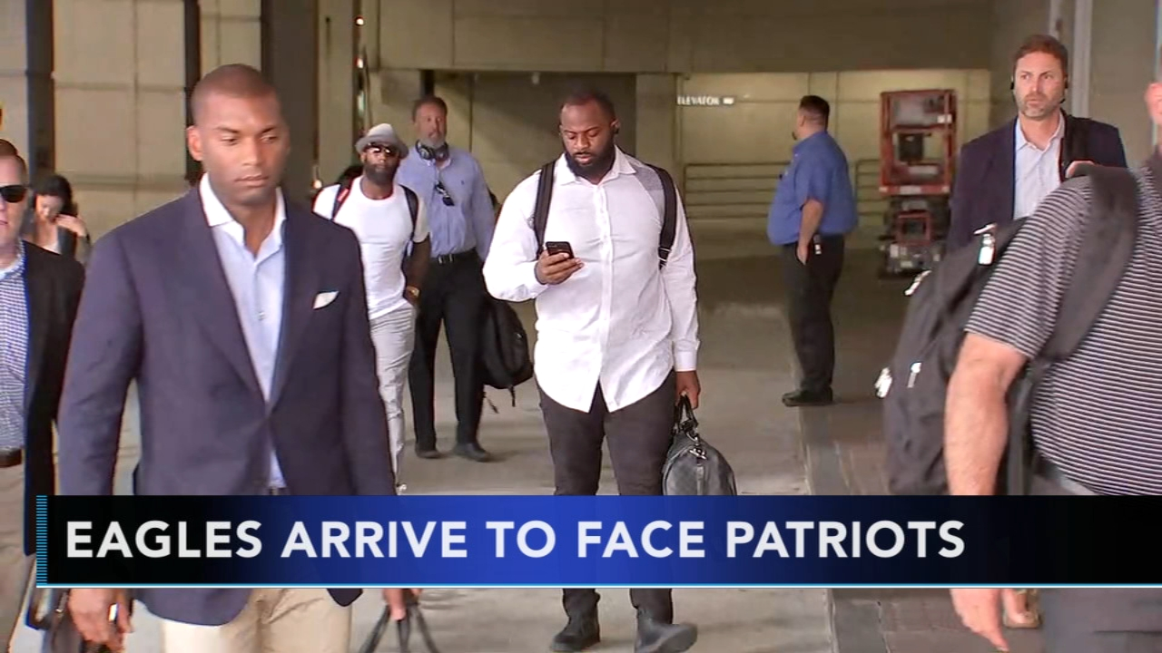 Eagles arrive to face Patriots: Jamie Apody reports on Action News at 5 p.m., August 15, 2018