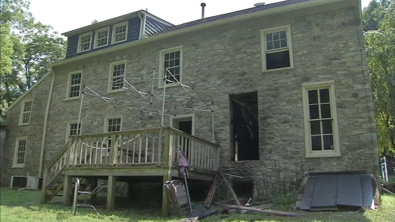 Suspicious fire at Solebury Township historic building: Walter perez reports on Action News at 5 p.m., August 15, 2018