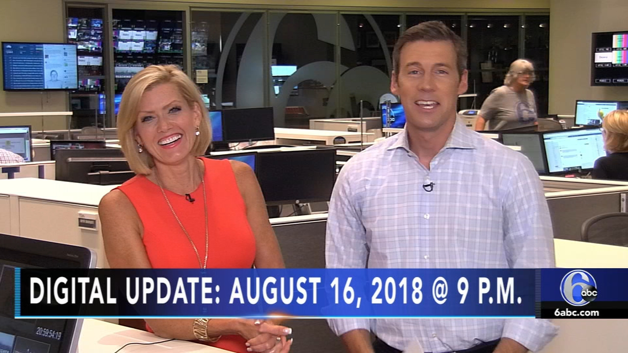 Brian Taff reports, and meteorologist Cecily Tynan has the latest from AccuWeather, during the Action News Update at 9 p.m. on August 16, 2018.