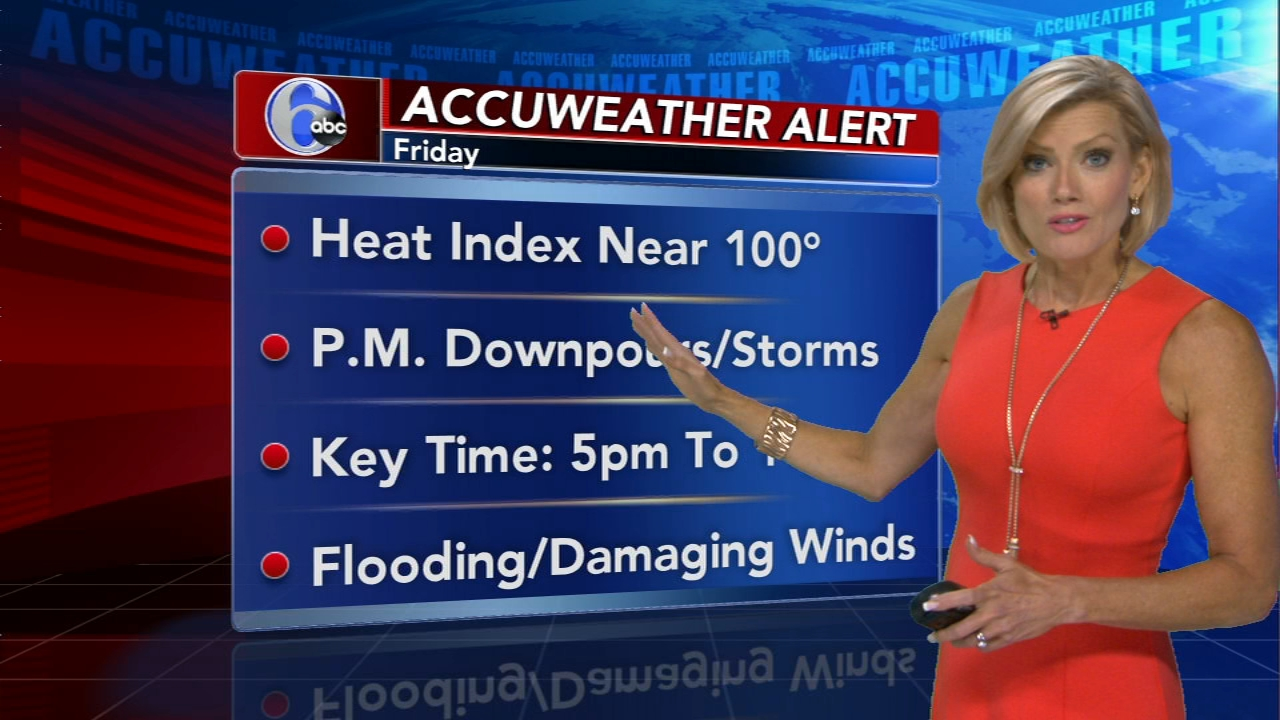 Cecily Tynan reports on AccuWeather during Action News at 6 p.m. on August 16, 2018.