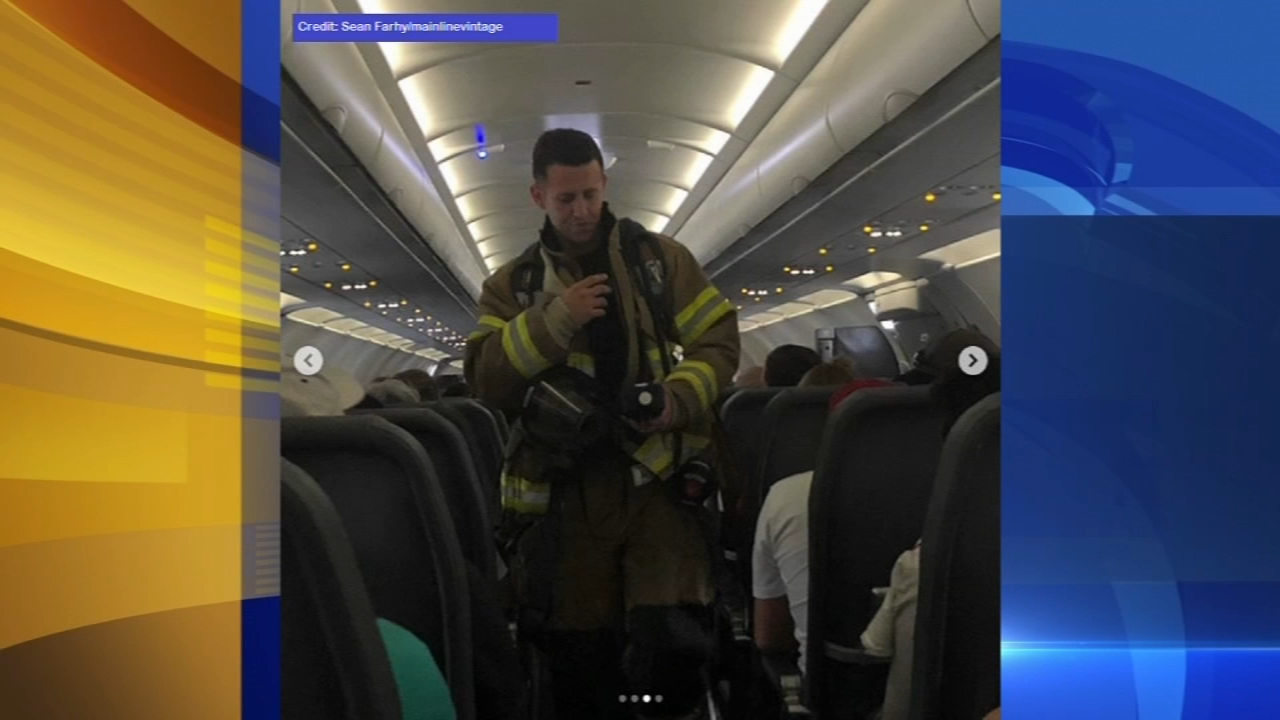 Passengers land in Philly after emergency landing. Katherine Scott reports during Action News Mornings on August 18, 2018.