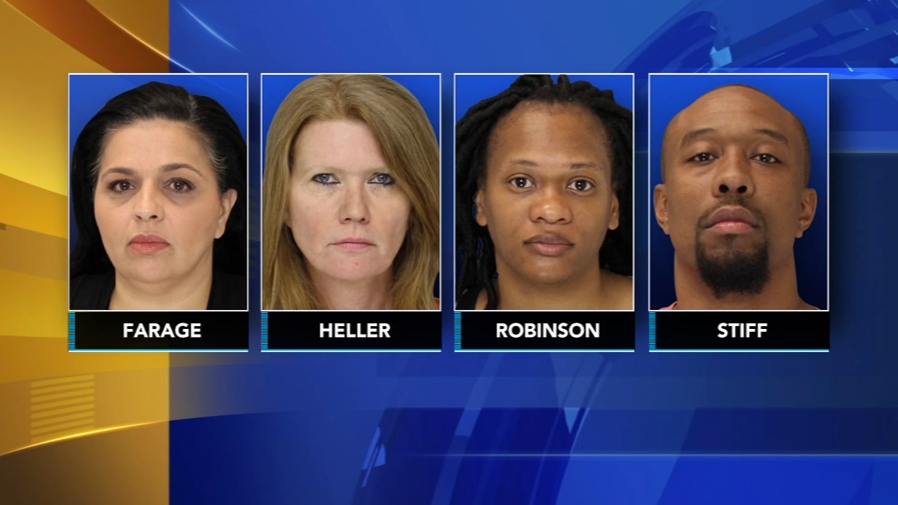 4 turnpike scofflaws charged with theft in Bucks Co.: as seen on Action News at 11 p.m., August 16, 2018.
