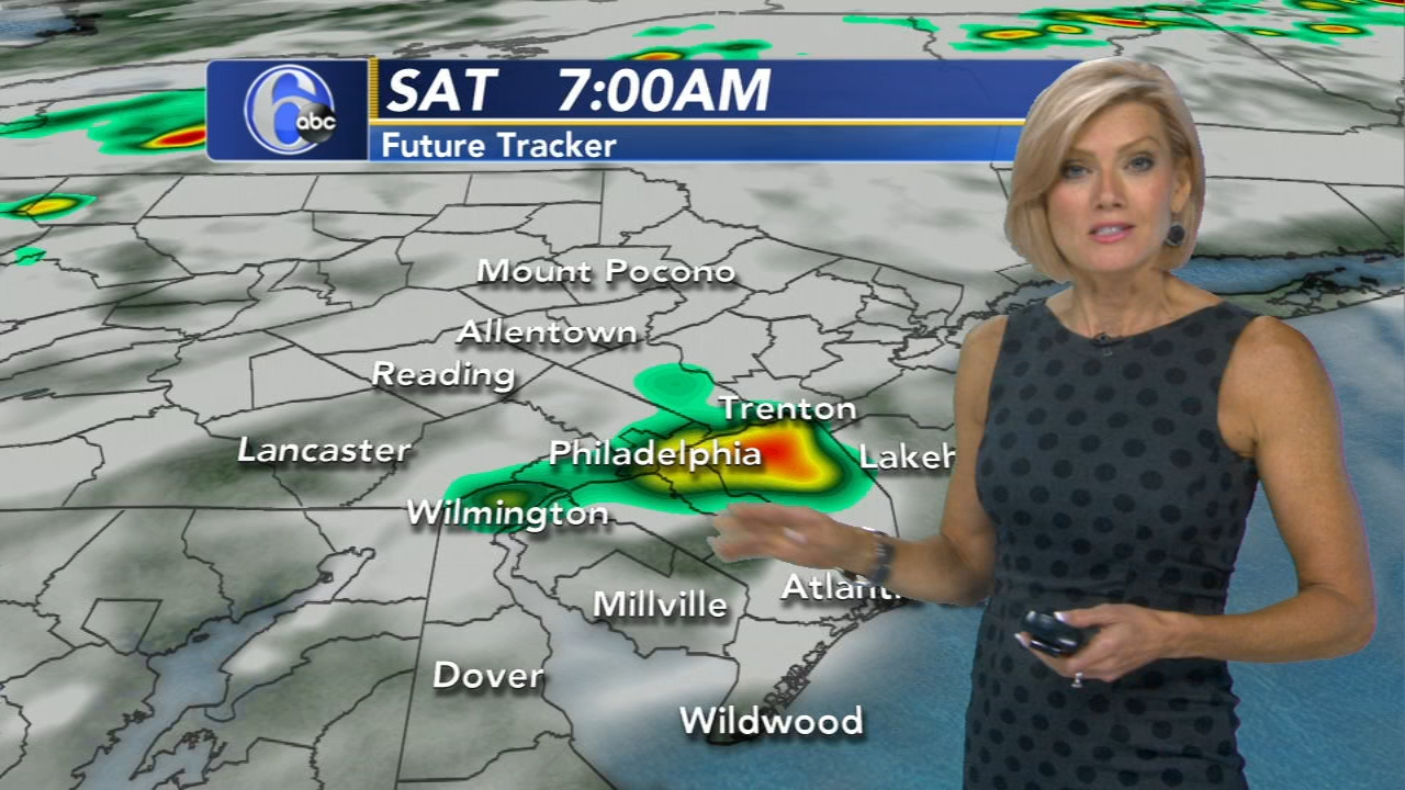 Cecily Tynan reports on AccuWeather during Action News at 11 p.m. on August 17, 2018.